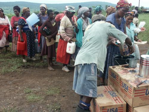 Food aid line